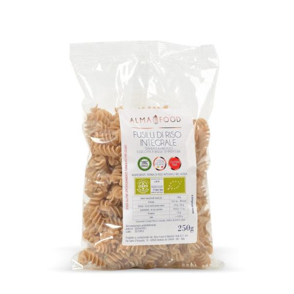 Fusilli di Riso Integrale Biologico Gluten Free Vegan - Alma Food